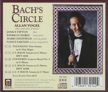 CD Bach's Circle - Sonata per Oboe Bwv 1020, Sonata per Oboe Bwv 1030b di Johann Sebastian Bach 0