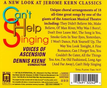 CD Can't Help Singing, Can I Forget You, All the Things You Are, I Won't Dance di Jerome Kern 1