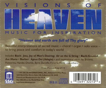 CD Visions of Heaven  0