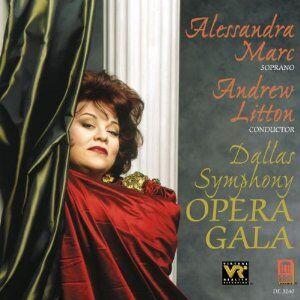 Foto Cover di Opera Gala, CD di Alessandra Marc, prodotto da Delos