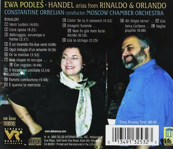 CD Arias From Rinaldo & Orla di Georg Friedrich Händel 1
