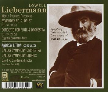 CD Concerto per Flauto Op.39, Sinfonia n.2 Op.67 di Lowell Liebermann 1