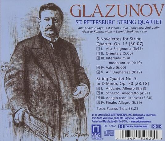 Five Novelettes-Quartet N - CD Audio di Alexander Kostantinovich Glazunov - 2