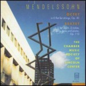 Foto Cover di Sestetto con pianoforte op.110 - Ottetto op.20, CD di Felix Mendelssohn-Bartholdy, prodotto da Delos