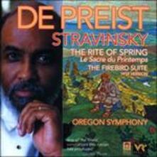 La sagra della primavera (Le Sacre du Printemps) - L'uccello di fuoco (L'oiseau de feu) - CD Audio di Igor Stravinsky,James De Preist,Oregon Symphony Orchestra