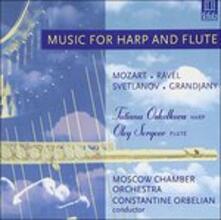 Musica per Arpa e Flauto. Concerto per Flauto e Arpa in Do Maggiore K299 - CD Audio di Wolfgang Amadeus Mozart,Constantine Orbelian
