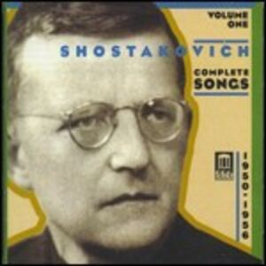 CD Romanze complete vol.1 di Dmitri Shostakovich