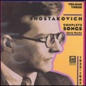 Romanze complete vol.3 - CD Audio di Dmitri Shostakovich