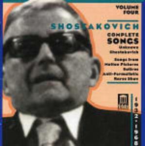 Integrale delle romanze vol.4 - CD Audio di Dmitri Shostakovich