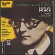 Romanze da camera vol.5 - CD Audio di Dmitri Shostakovich