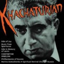 Spartacus, Ode in Memoria di Lenin, Ode Alla Gioia, - CD Audio di Aram Khachaturian,Constantine Orbelian