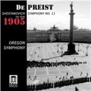 Foto Cover di Sinfonia n.11, CD di Dmitri Shostakovich, prodotto da Delos
