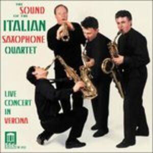 CD The Sound of the Italian Saxophone Quartet, Concerto Dal Vivo a Verona
