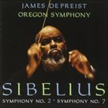 Sinfonia n.7 Op.105, Sinfonia n.2 Op.43 - CD Audio di Jean Sibelius,James DePreist