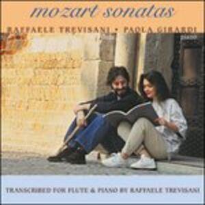 Foto Cover di Sonate per Flauto K.296, 301, 376, 379, CD di Wolfgang Amadeus Mozart,Raffaele Trevisani, prodotto da Delos