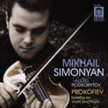 Sonate per Violino e Pianoforte n.1 Op.80, n.2 Op.94bis - CD Audio di Sergej Sergeevic Prokofiev,Mikhail Simonyan