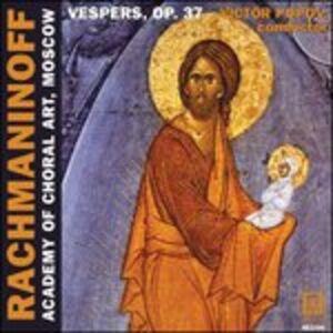 CD All-Night Vigil Op.37, 'vespers' di Sergei Vasilevich Rachmaninov