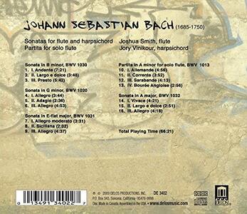 Sonate per Flauto Bwv 1020, 1030-1032, Partita per Flauto Bwv 1013 - CD Audio di Johann Sebastian Bach - 2