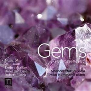 Gems Rediscovered. Sonata per Viola e Pianoforte Op.15 - CD Audio di Paul Juon