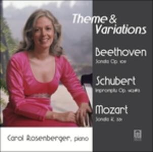 Sonata per pianoforte op.109 - Improvviso op.142 - Sonata K331 - CD Audio di Ludwig van Beethoven,Wolfgang Amadeus Mozart,Franz Schubert,Carol Rosenberger