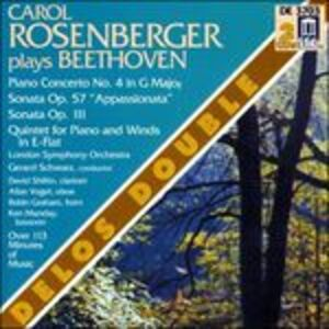 CD Concerto per pianoforte n.4 - Sonate n.23, n.32 - Quintetto op.16 di Ludwig van Beethoven