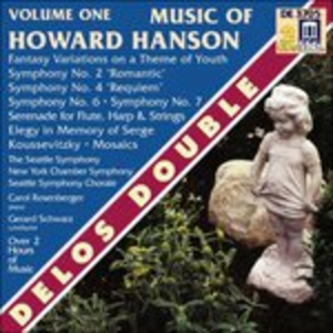 CD Sinfonia n.2 Op.30, Fantasy-Variations on a Theme of Youth Op.40 di Howard Hanson