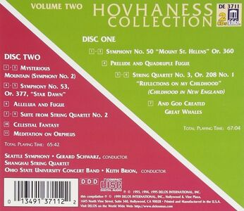 CD Hovhaness Collection vol.2 di Alan Hovhaness 0