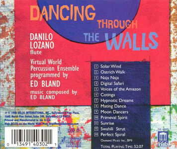 CD Dancing Through the Walls di Edward Bland 0