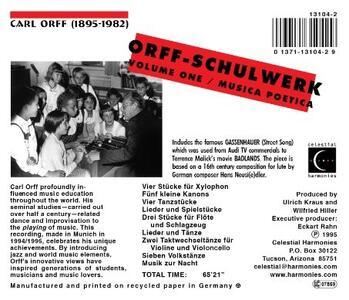 Schulwerk 1 - CD Audio di Carl Orff - 2
