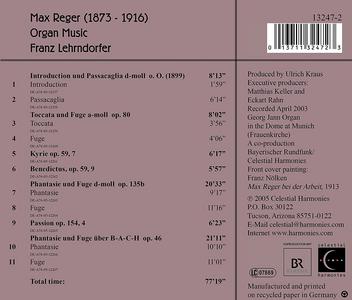 CD Max Reger. Organ Works  1