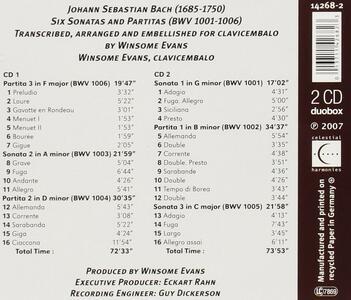 6 Sonatas & Partitas - CD Audio di Johann Sebastian Bach - 2