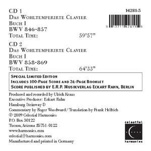 Il clavicembalo ben temperato libro I - CD Audio di Johann Sebastian Bach,Roger Woodward - 2