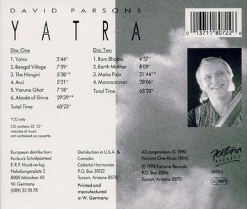 Yatra - CD Audio di David Parsons - 2