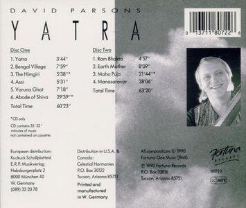 Foto Cover di Yatra, CD di David Parsons, prodotto da Fortuna 1