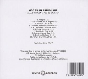 All Is Violent, All Is Bright - CD Audio di God Is an Astronaut - 2