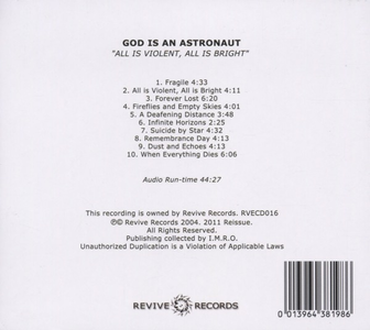 CD All Is Violent, All Is Bright di God Is an Astronaut 1