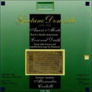 Foto Cover di Amore e morte. Liriche rare e inedite, CD di Gaetano Donizetti, prodotto da Vocalia