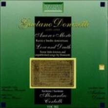Amore e morte. Liriche rare e inedite - CD Audio di Gaetano Donizetti
