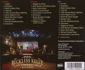 CD Reckless Kelly Was Here di Reckless Kelly 1