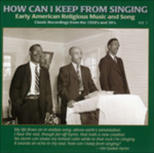 CD How Can I Keep from Singing vol.1
