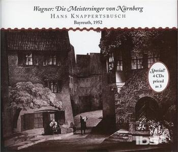 I maestri cantori di Norimberga (Die Meistersinger von Nürnberg) - CD Audio di Richard Wagner,Lisa Della Casa,Hans Hopf,Otto Edelmann,Kurt Böhme,Bayreuth Festival Orchestra,Hans Knappertsbusch