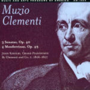 Sonate op.40 - Monferrine op.49 - CD Audio di Muzio Clementi
