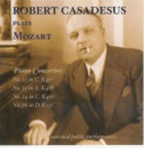 Concerti per pianoforte n.21, n.23, n.24, n.26 - CD Audio di Wolfgang Amadeus Mozart,Pierre Monteux,David Zinman,Jean Martinon,Lovro Von Matacic,Robert Casadesus