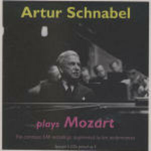 CD Arthur Schnabel plays Mozart. The Complete EMI Recordings di Wolfgang Amadeus Mozart