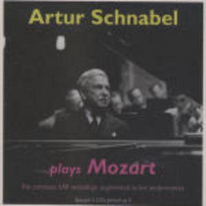 CD Arthur Schnabel plays Mozart. The Complete EMI Recordings di Wolfgang Amadeus Mozart