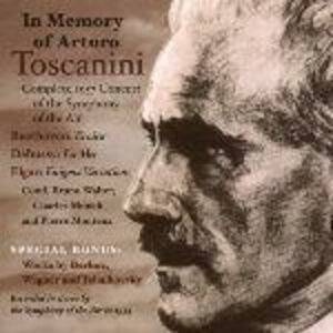 Foto Cover di In memoria di Arturo Toscanini. Sinfonia n.3 / La mer / Variazioni Enigma, CD di AA.VV prodotto da Music and Arts