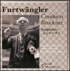 Sinfonie n.4, n.5, n.6, n.8, n.9 - CD Audio di Anton Bruckner,Wilhelm Furtwängler,Berliner Philharmoniker,Wiener Philharmoniker