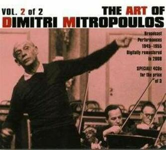 Art of Dmitri Mitropoulos - CD Audio di Dimitri Mitropoulos