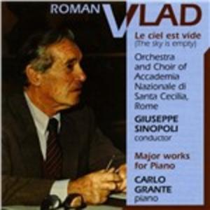CD Le ciel est vide. Musiche per pianoforte di Roman Vlad