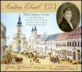 Foto Cover di Sonate per fortepiano complete, CD di Anton Eberl,John Khouri, prodotto da Music and Arts
